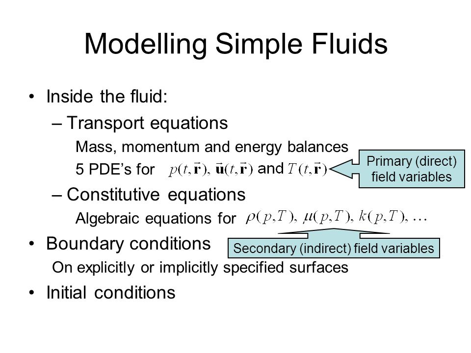 Examples Impermeability condition Surface reaction