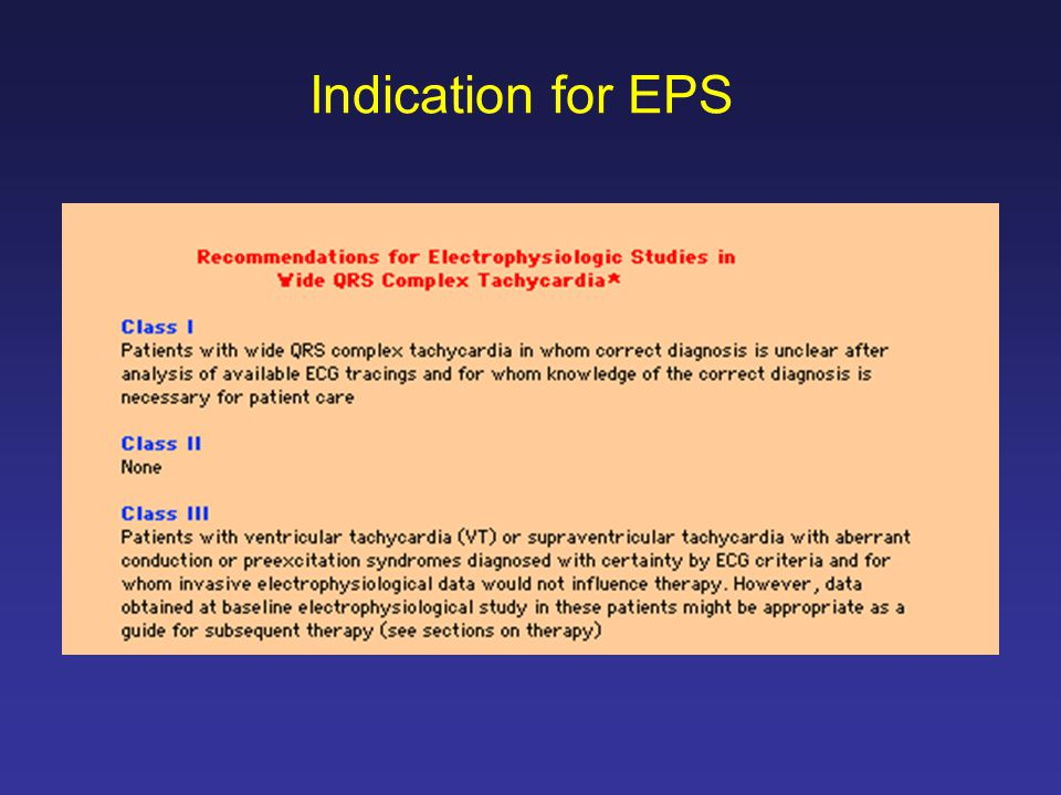 Indication for EPS