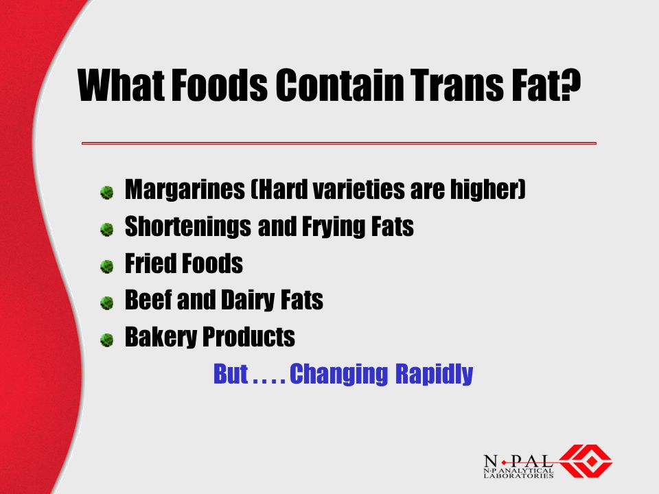 What Foods Contain Trans Fat.