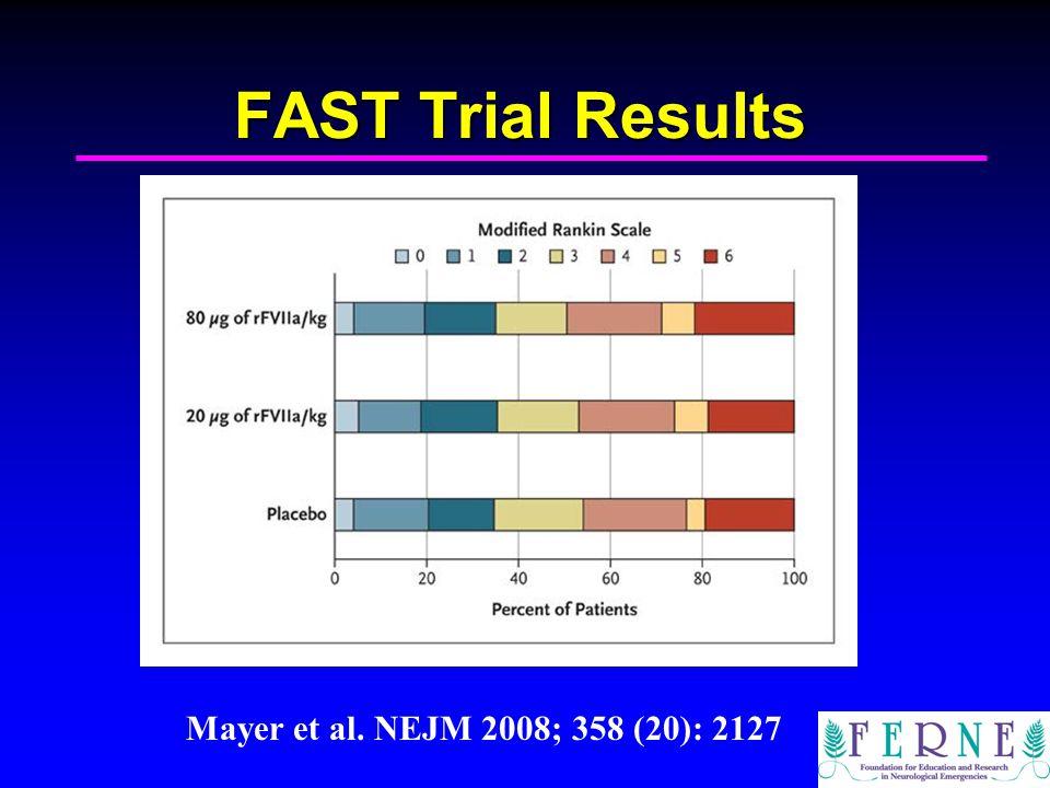 FAST Trial Results Mayer et al. NEJM 2008; 358 (20): 2127