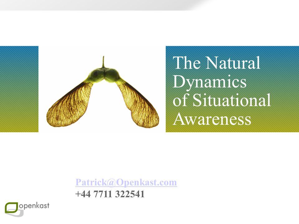 The Natural Dynamics of Situational Awareness Patrick@Openkast.com +44 7711 322541