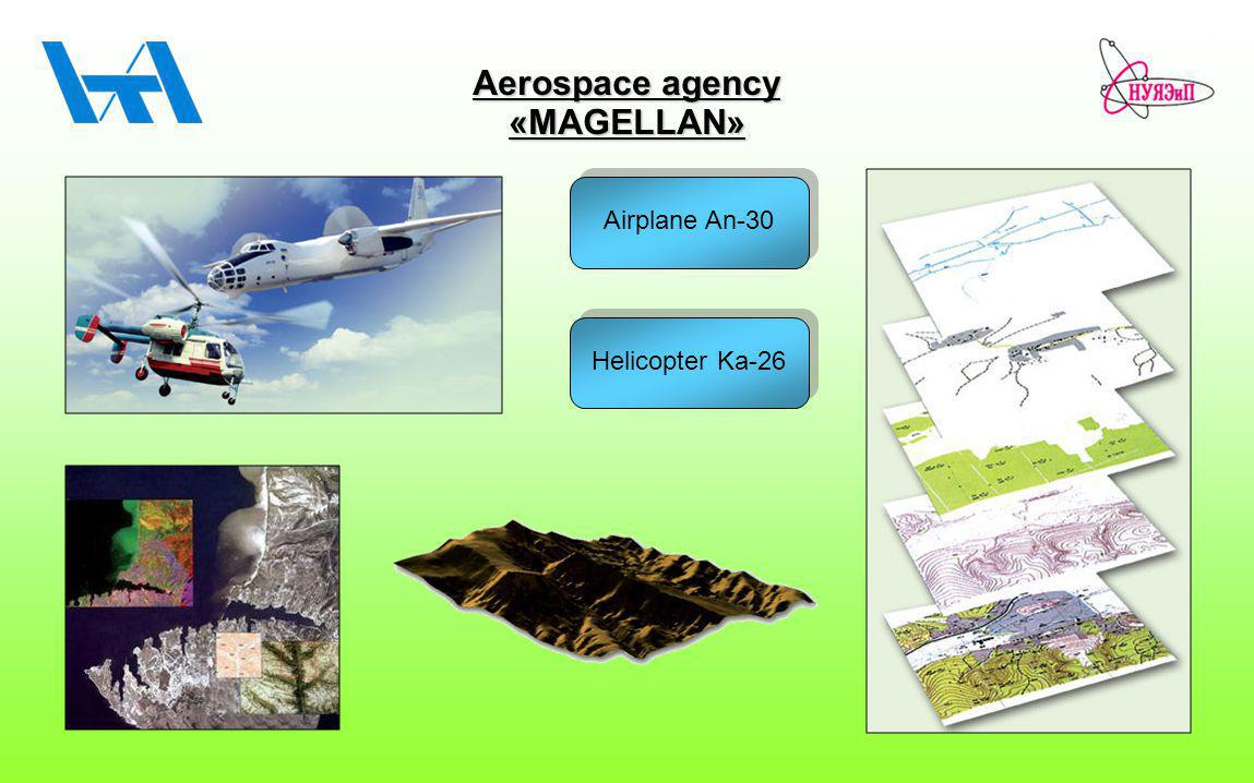 Aerospace agency «MAGELLAN» Airplane An-30 Helicopter Ka-26