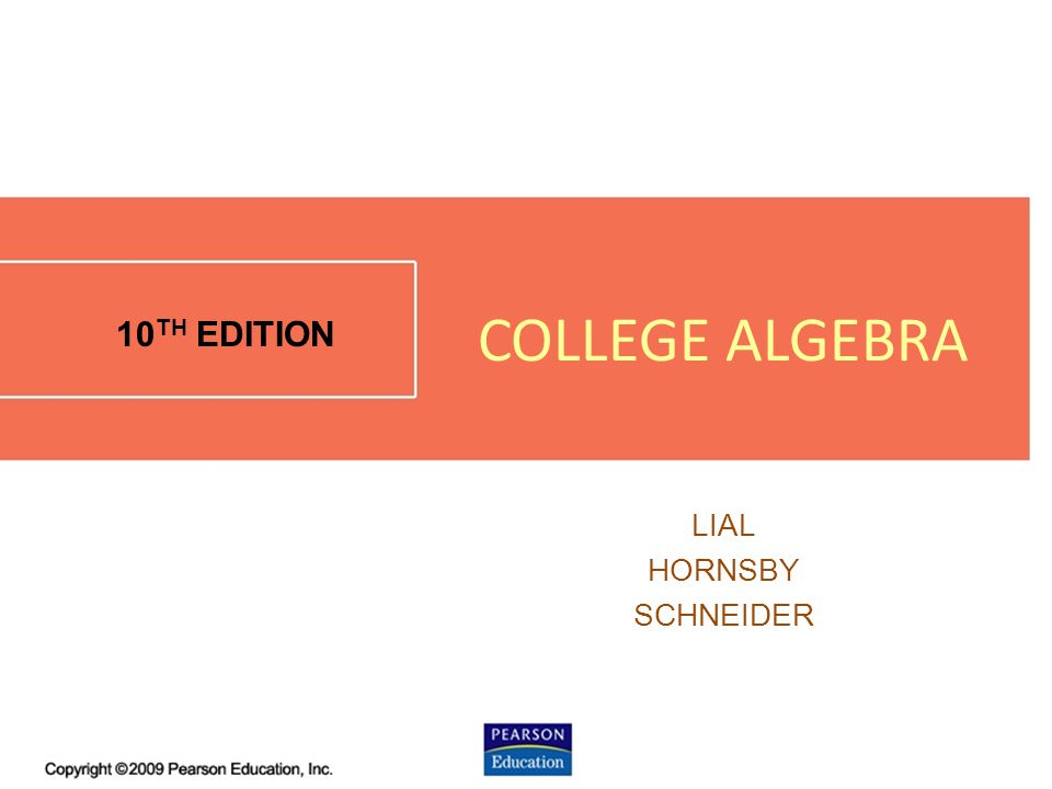 1.4 - 1 10 TH EDITION LIAL HORNSBY SCHNEIDER COLLEGE ALGEBRA
