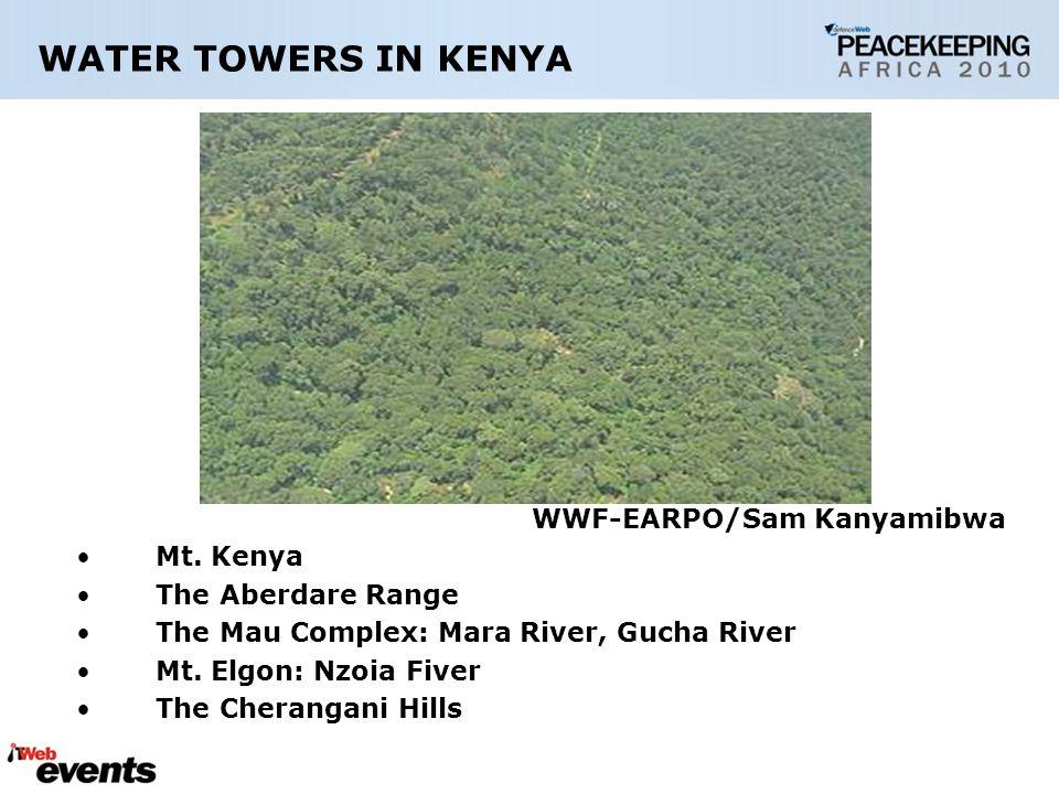 WATER TOWERS IN KENYA WWF-EARPO/Sam Kanyamibwa Mt.