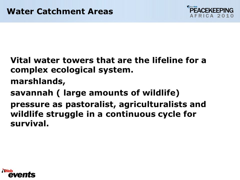 Vital water towers that are the lifeline for a complex ecological system.