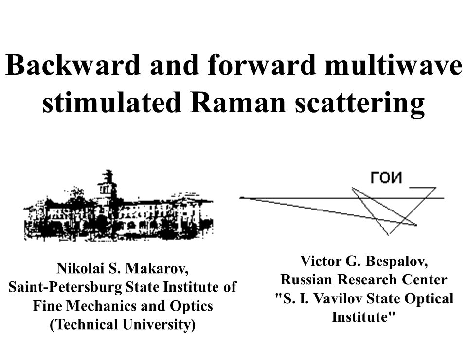 Backward and forward multiwave stimulated Raman scattering Victor G.
