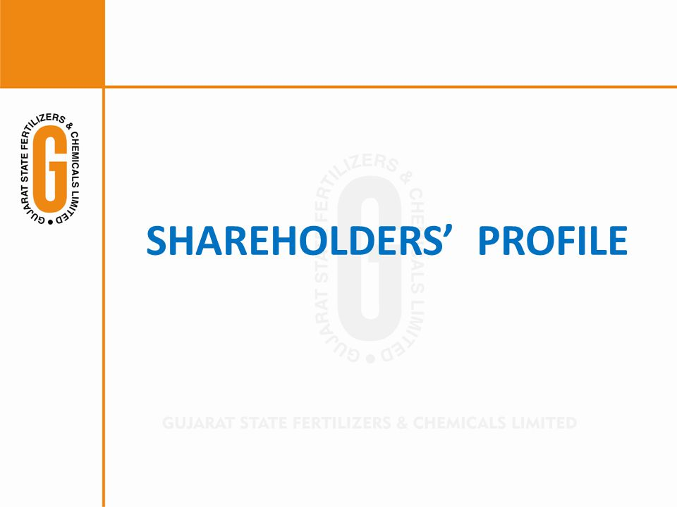 SHAREHOLDERS PROFILE