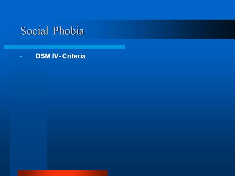Social Phobia DSM IV- Criteria