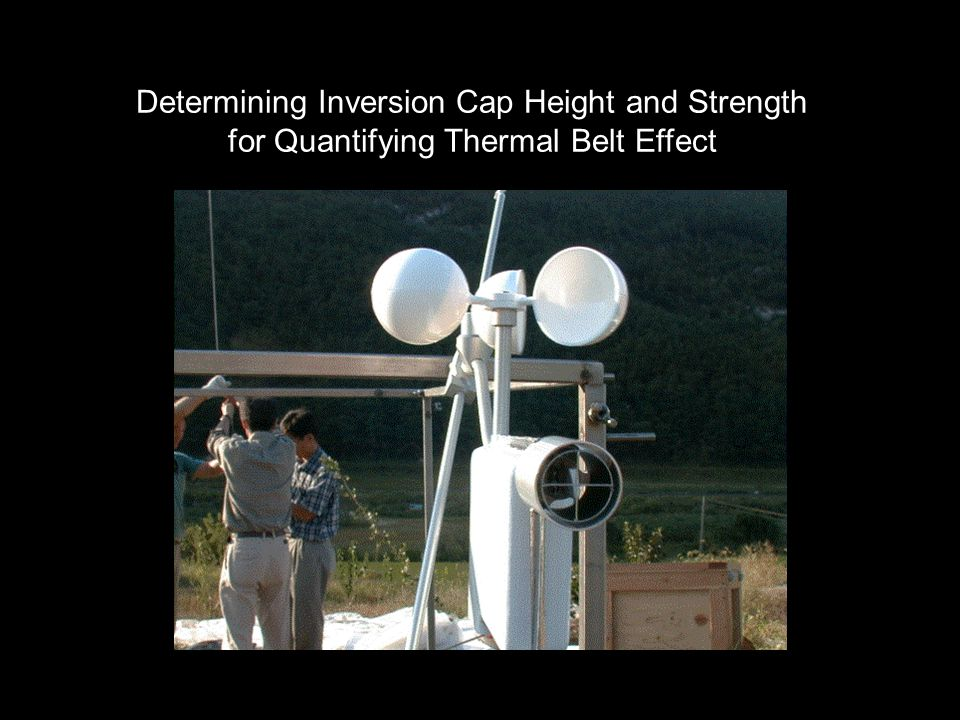 Determining Inversion Cap Height and Strength for Quantifying Thermal Belt Effect