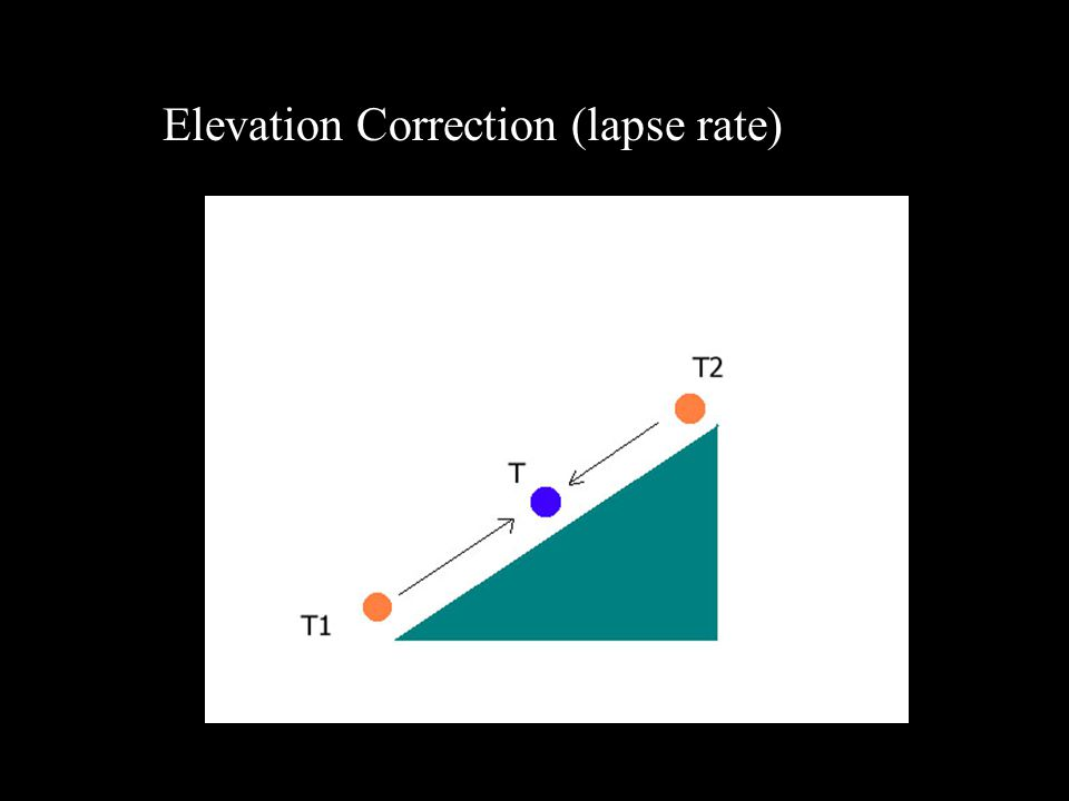 Elevation Correction (lapse rate)