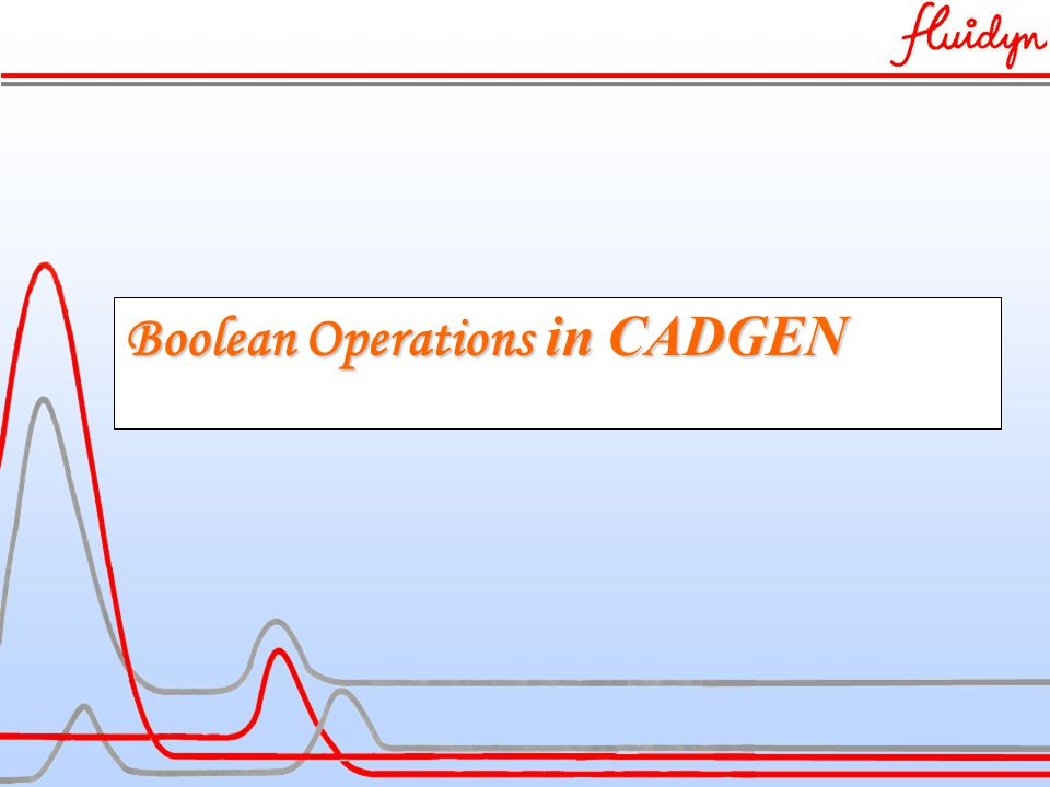 Boolean Operations in CADGEN