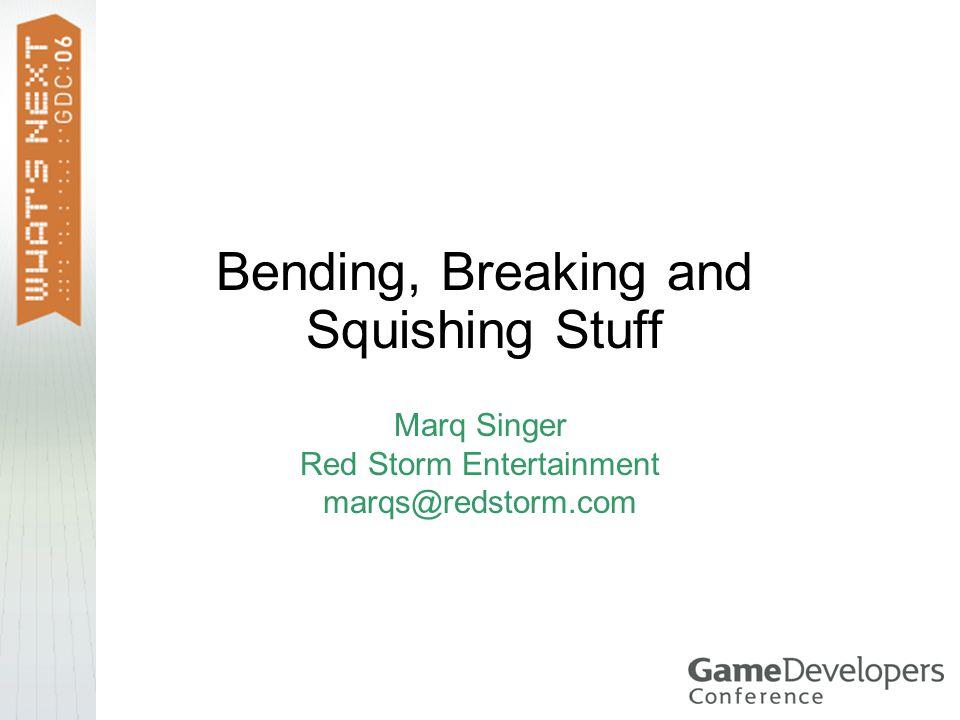 Dynamic Destruction Demos: Destructo-Bunny Crash2 Pseudo Interactive, E3 Demo, May 2004 Crash2