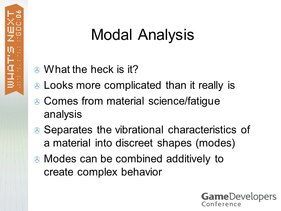 Modal Analysis What the heck is it.