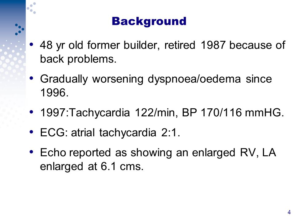 15 Background Continued Patient readmitted with narrow complex tachycardia and cardioverted and put back on Amiodarone.