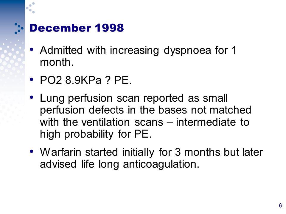 27 Right & Left Cardiac Catheterization Haemodynamics Aorta 161/79 mmHg LV 175 mmHg LVEDP 10 mmHg RA 20/10 mmHg RV 39 mmhg RVEDP 2 mmHG PA 43/10 mmHG mean 23 mmHG Pulmonary Vascular Resistance 0.69 Wood Units Systemic Vascular Resistance 21.42 Wood Units Saturations Aortic Sat: 98% LV Sat: 97% SVC Sat: 65% IVC Sat: 84% High RA 98% Mid Ra 97% Low Ra 86% RV 90% PA 90% Systemic Flow: 4.67 l/min Pulmonary Flow 18.84 l/min QP/QS: 4.04