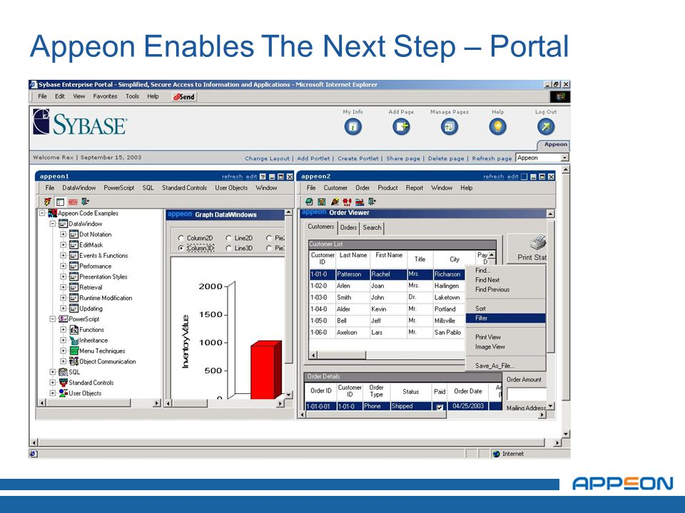 Appeon Enables The Next Step – Portal