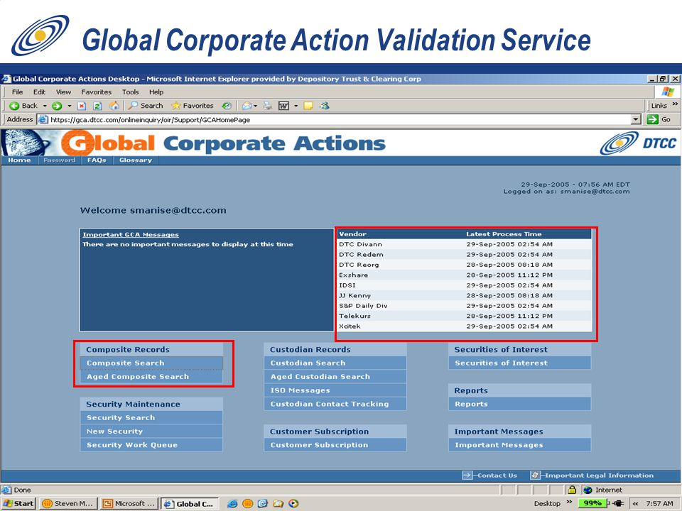 34 Global Corporate Action Validation Service