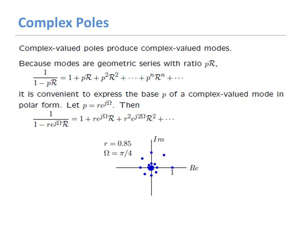 Complex Poles