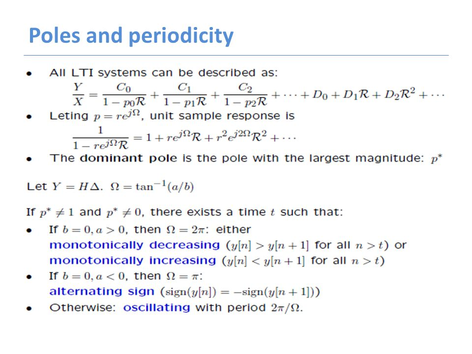 Poles and periodicity