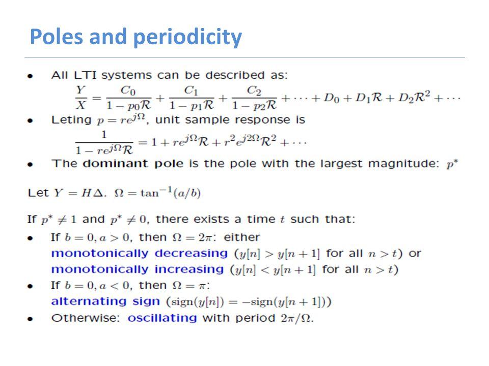 Poles and periodicity