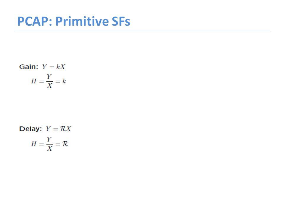 PCAP: Primitive SFs