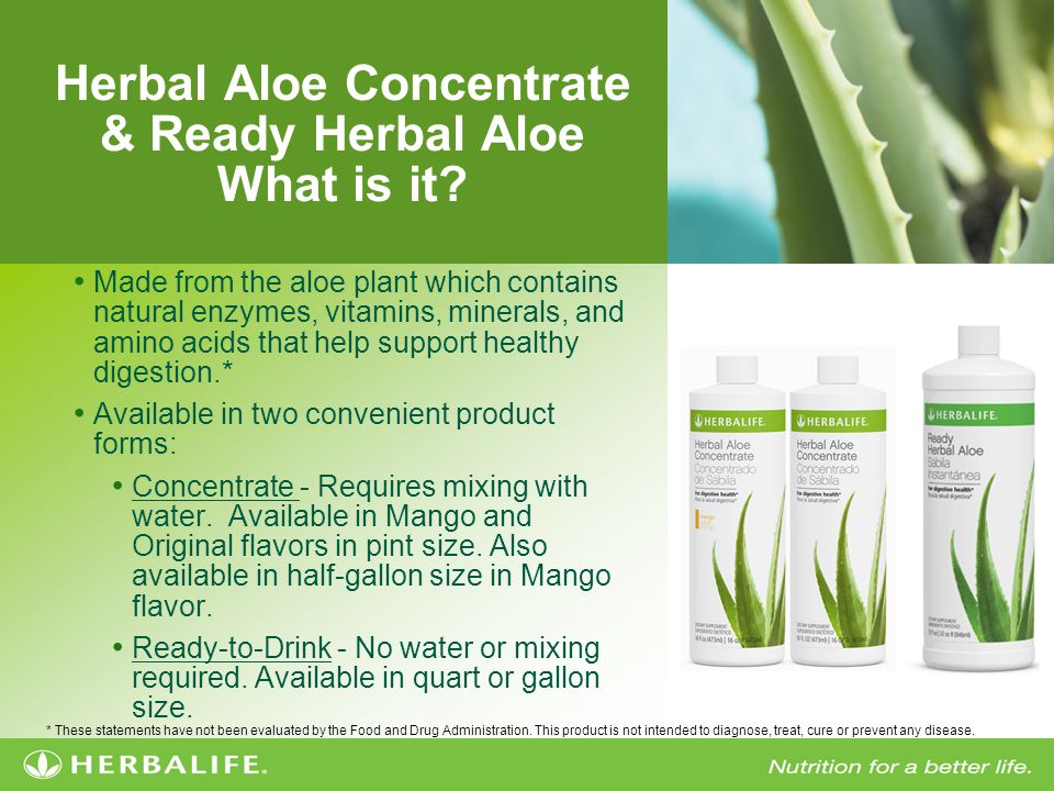 Herbal Aloe Concentrate & Ready Herbal Aloe What is it.