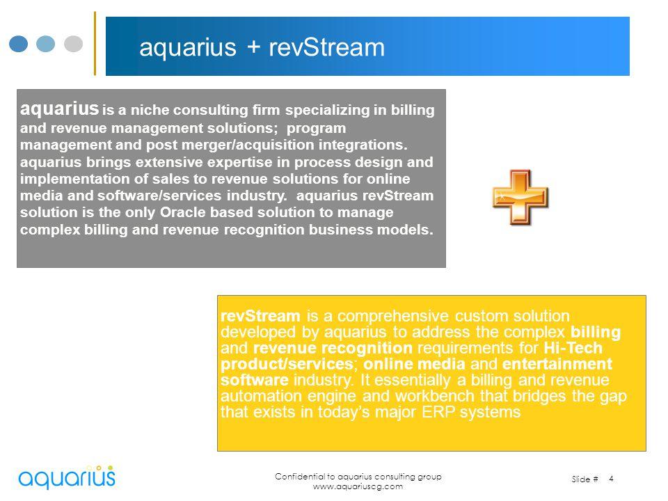 Confidential to aquarius consulting group www.aquariuscg.com revenue recognition current practices