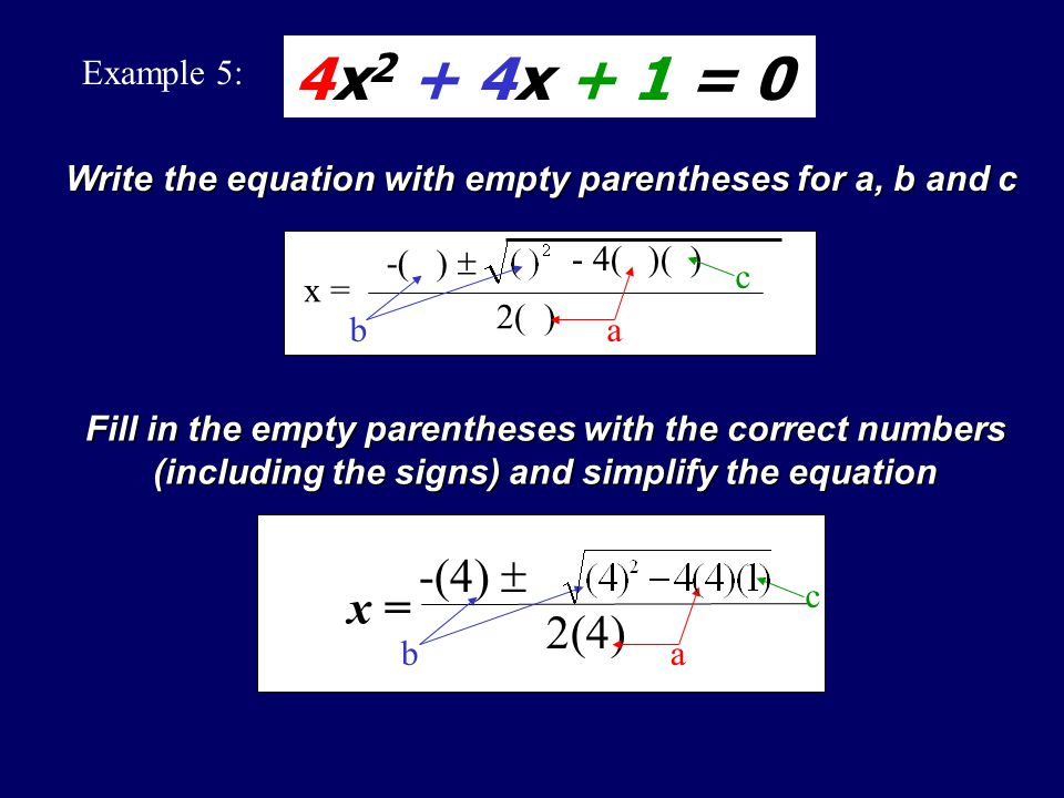 Since the fraction has a symbol in it, this is 2 numbers. Type of Solution: Two Real Number Solutions were found for the quadratic equation 4x 2 + 6x