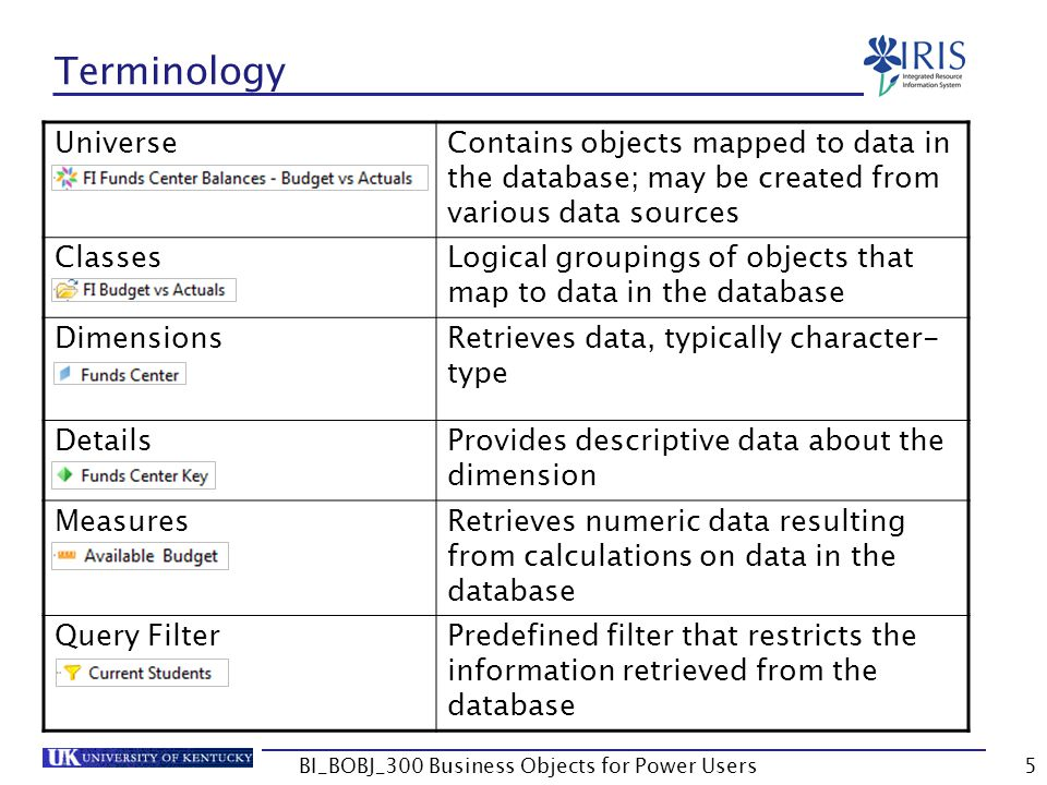 76 Data Provider Classes Logical groupings of objects that map to data in the database Dimensions Retrieves data – typically character-type Examples: Company Code, GL Account, etc.