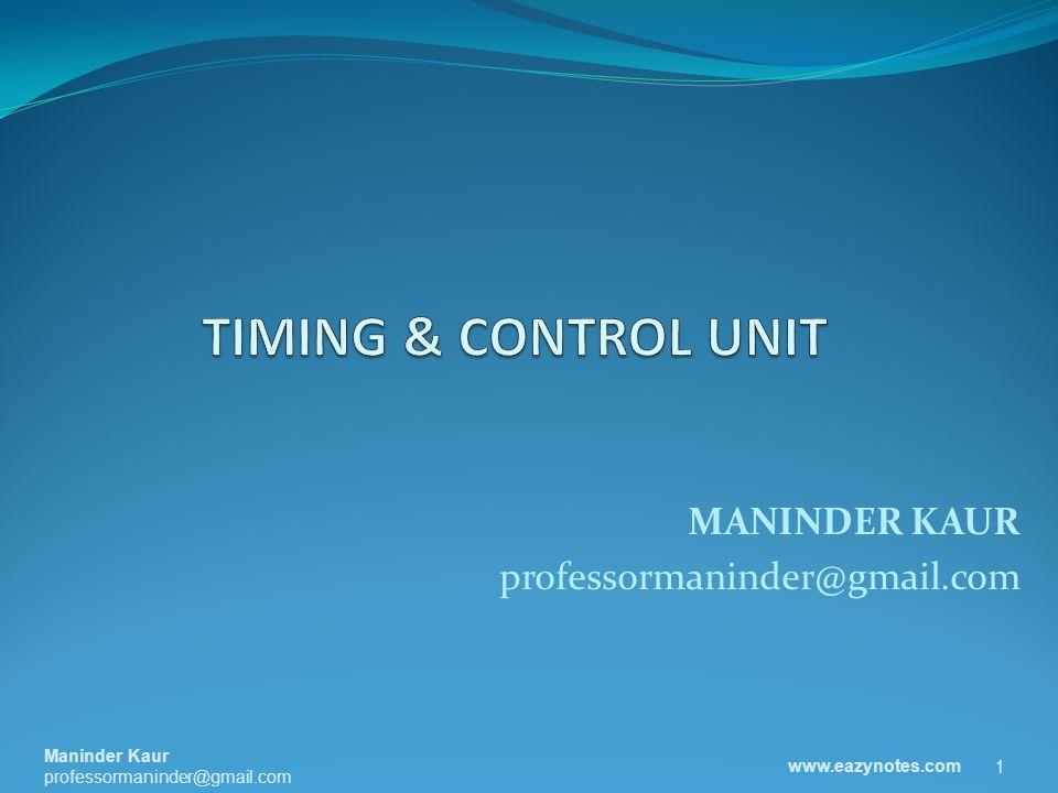 CONTROL UNIT CPU is partitioned into Arithmetic Logic Unit (ALU) and Control Unit (CU).
