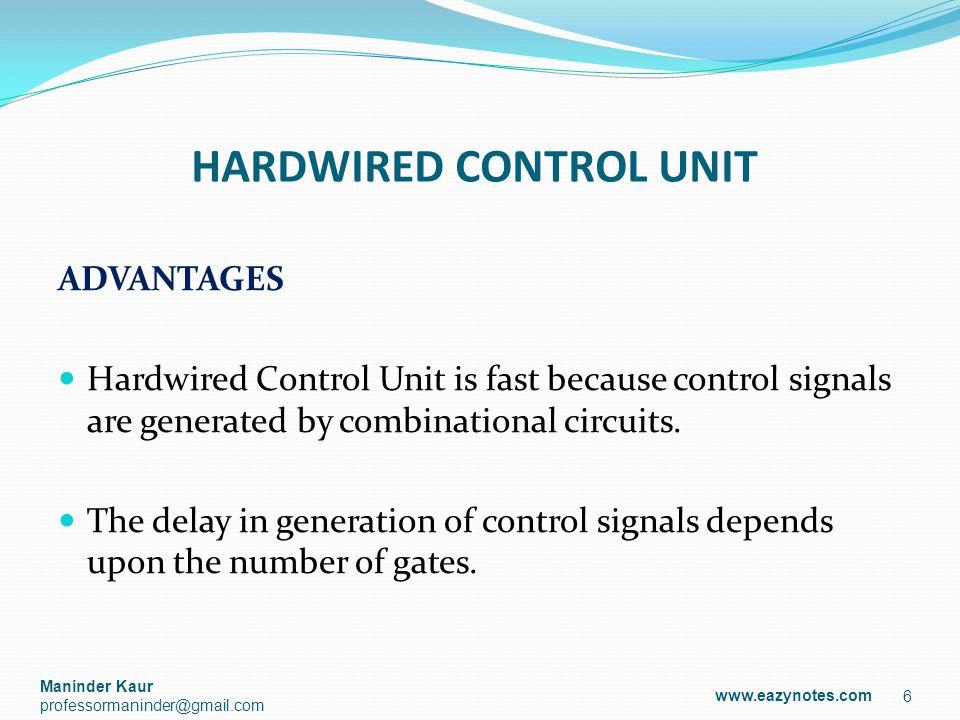 MICRO-PROGRAMMED CONTROL UNIT Micro-Instructions: The instructions that make micro-program are called micro-instructions.