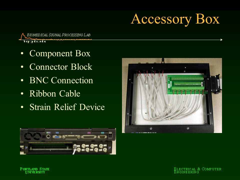Accessory Box Component Box Connector Block BNC Connection Ribbon Cable Strain Relief Device