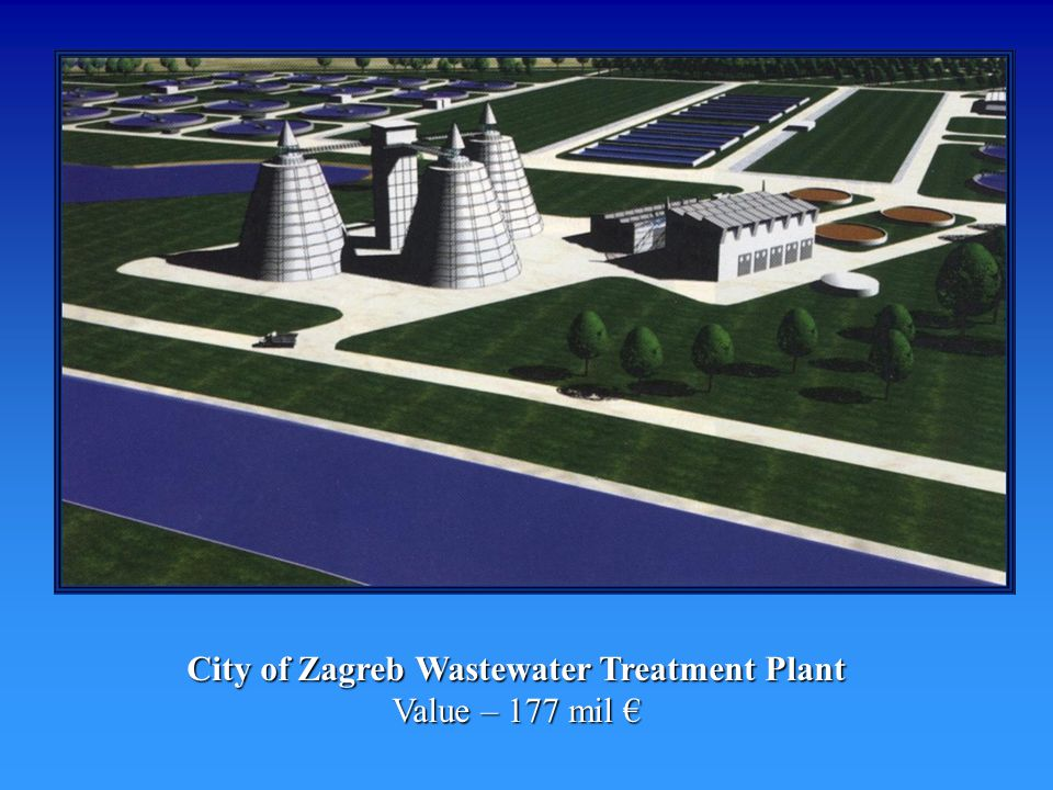 City of Zagreb Wastewater Treatment Plant Value – 177 mil City of Zagreb Wastewater Treatment Plant Value – 177 mil
