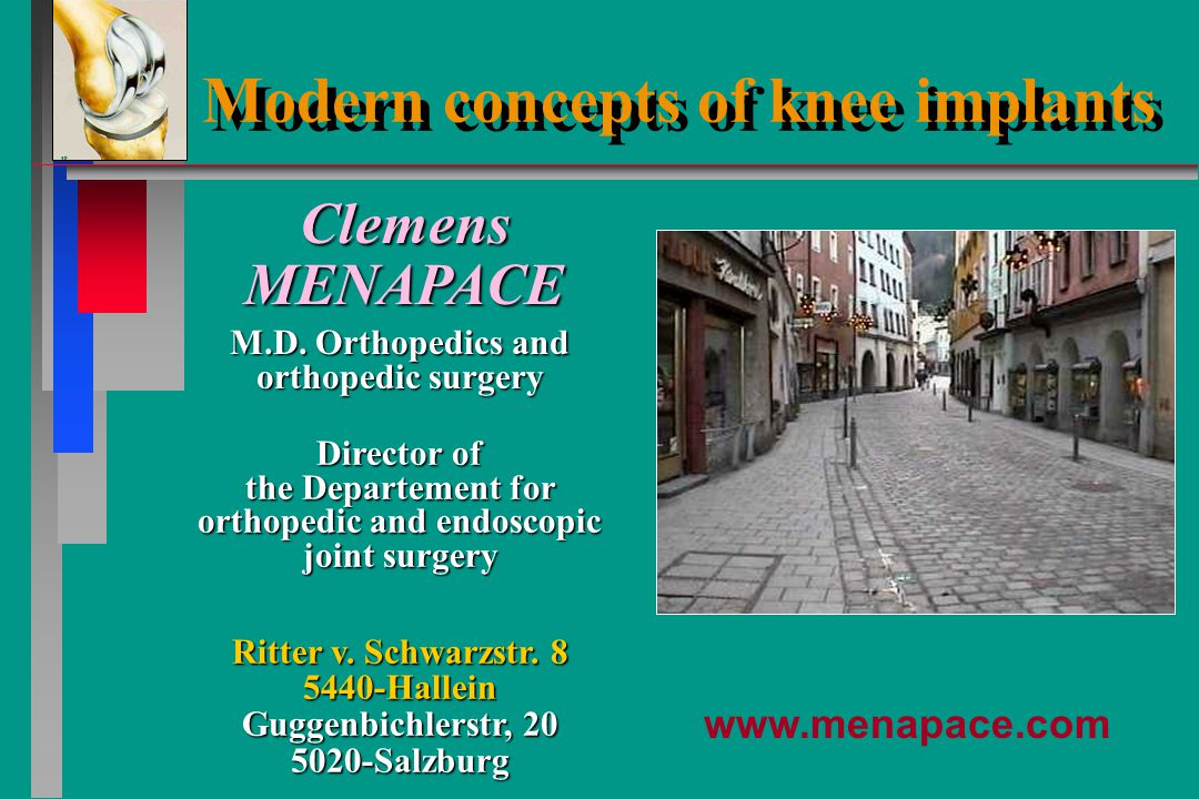 Director of the Departement for orthopedic and endoskopic joint surgery Ritter v.