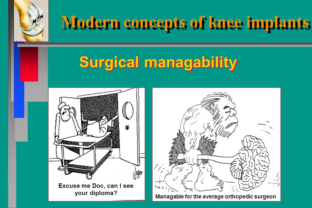 Modern concepts of knee implants In conclusion, what do we expect from a modern knee implant
