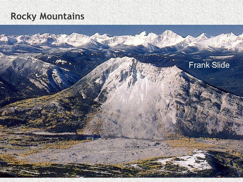 Rocky Mountains Frank Slide