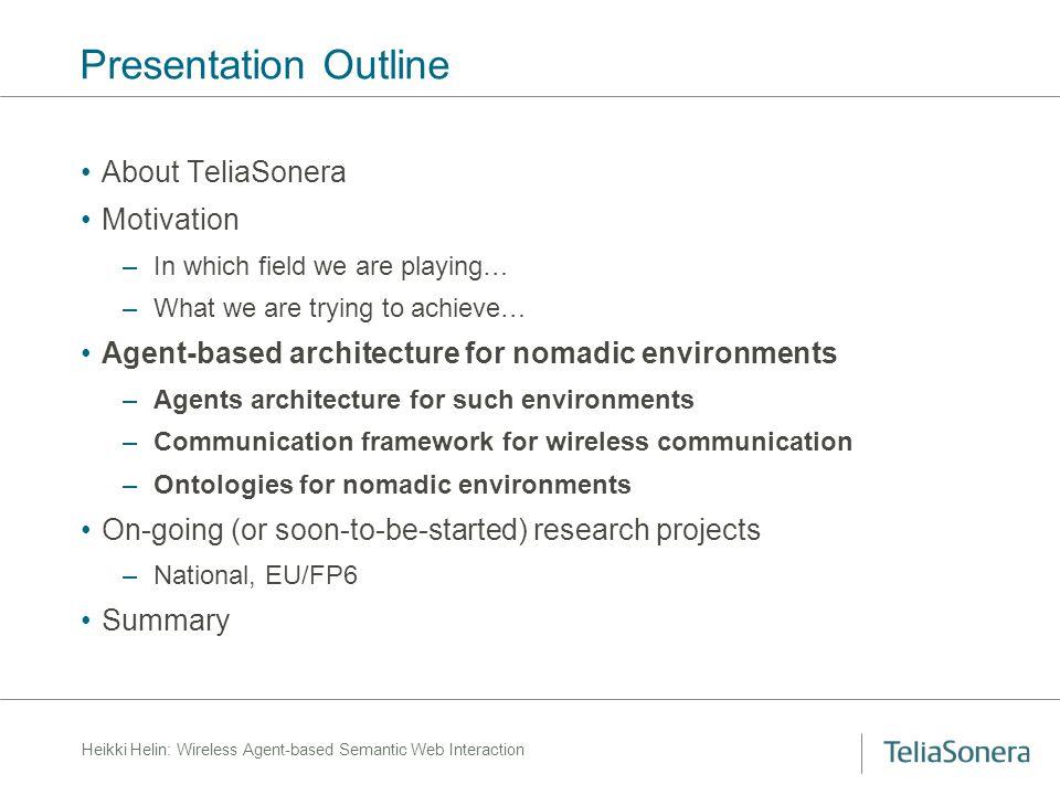 Heikki Helin: Wireless Agent-based Semantic Web Interaction Layered model of agent communication