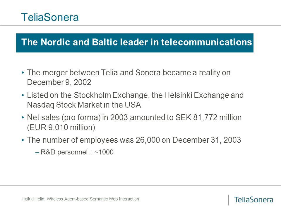 Heikki Helin: Wireless Agent-based Semantic Web Interaction Message Transport