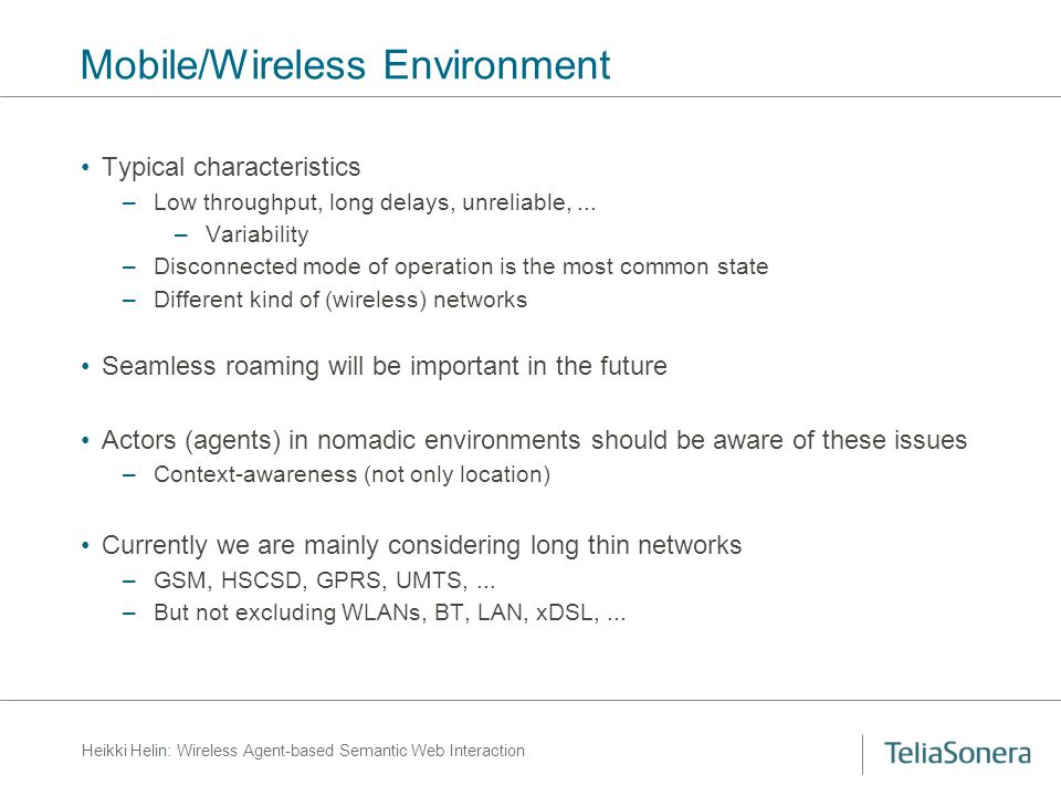 Heikki Helin: Wireless Agent-based Semantic Web Interaction IWebS – Sample Scenario