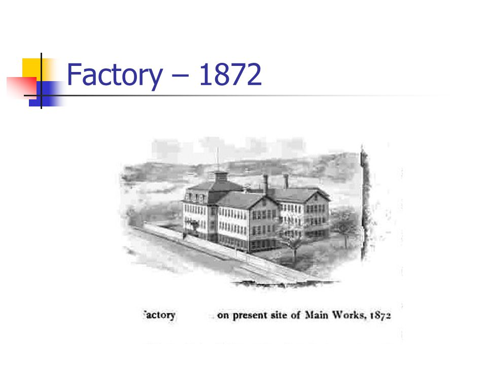 Factory – 1872