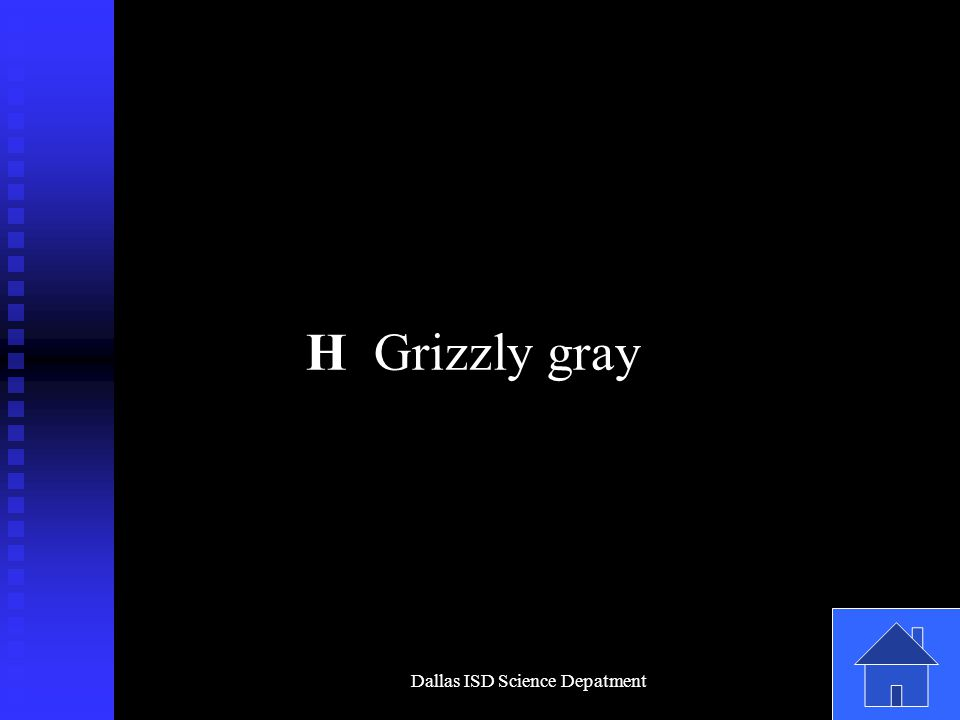 Dallas ISD Science Depatment H Grizzly gray