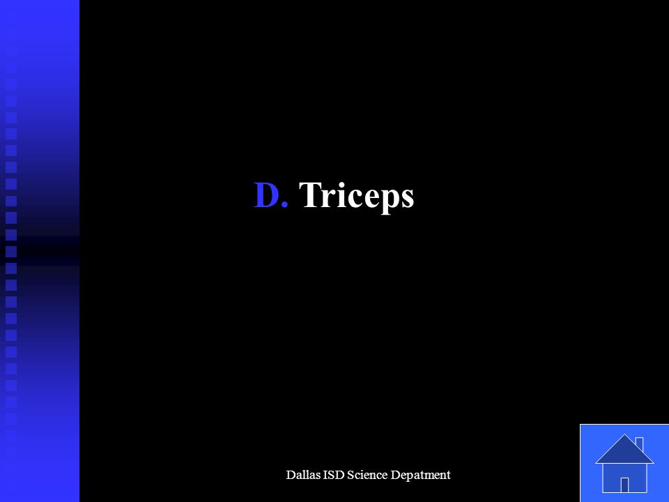 Dallas ISD Science Depatment D. Triceps