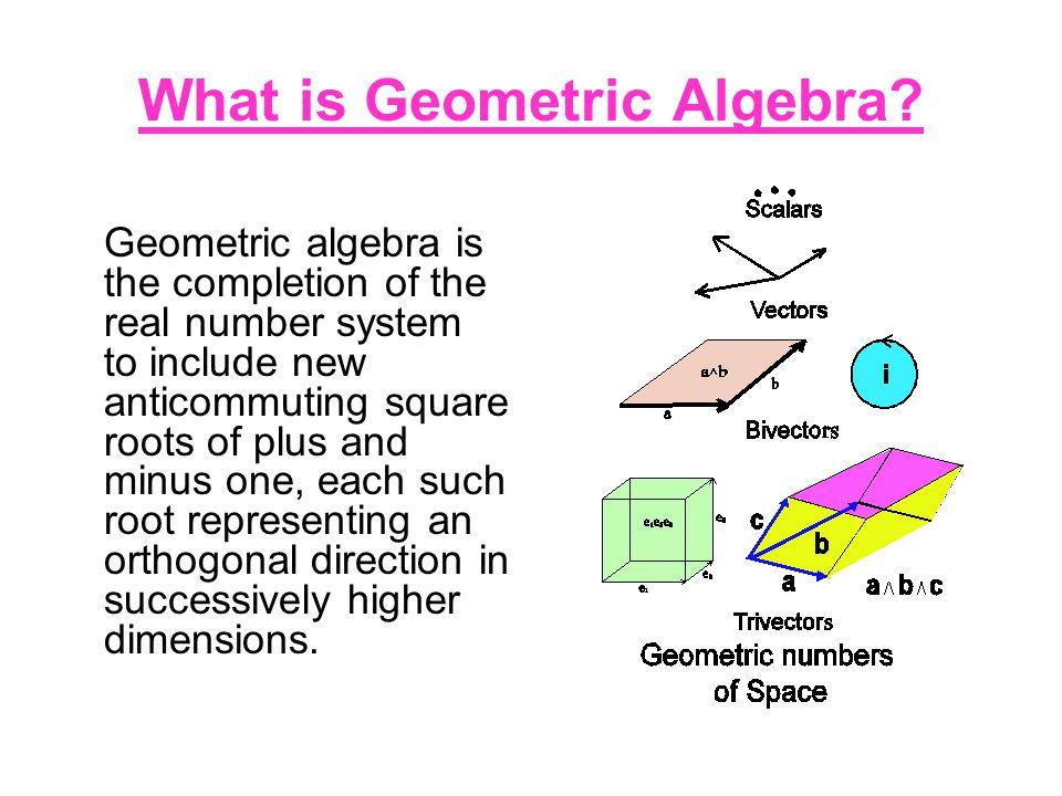 What is Geometric Algebra.