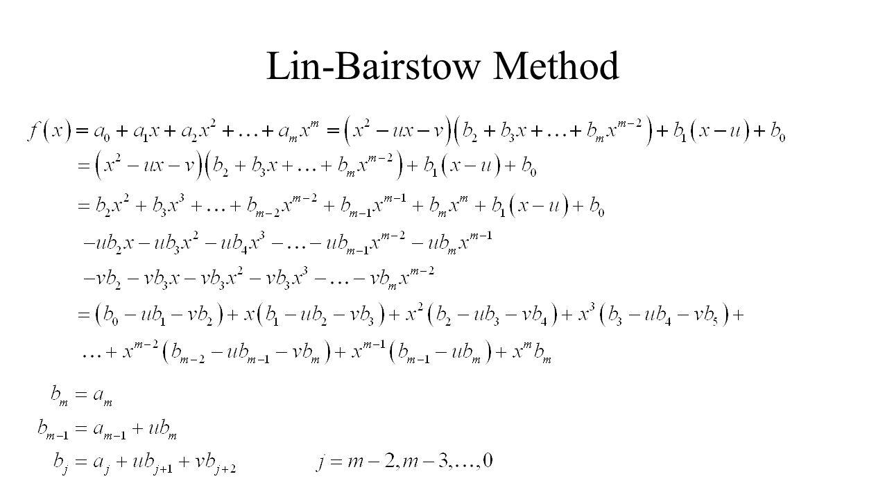 Lin-Bairstow Method