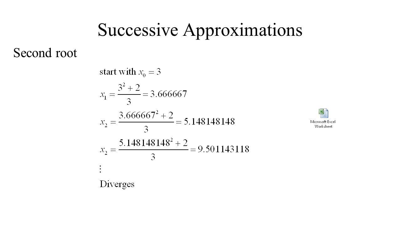 Analysis of Convergence