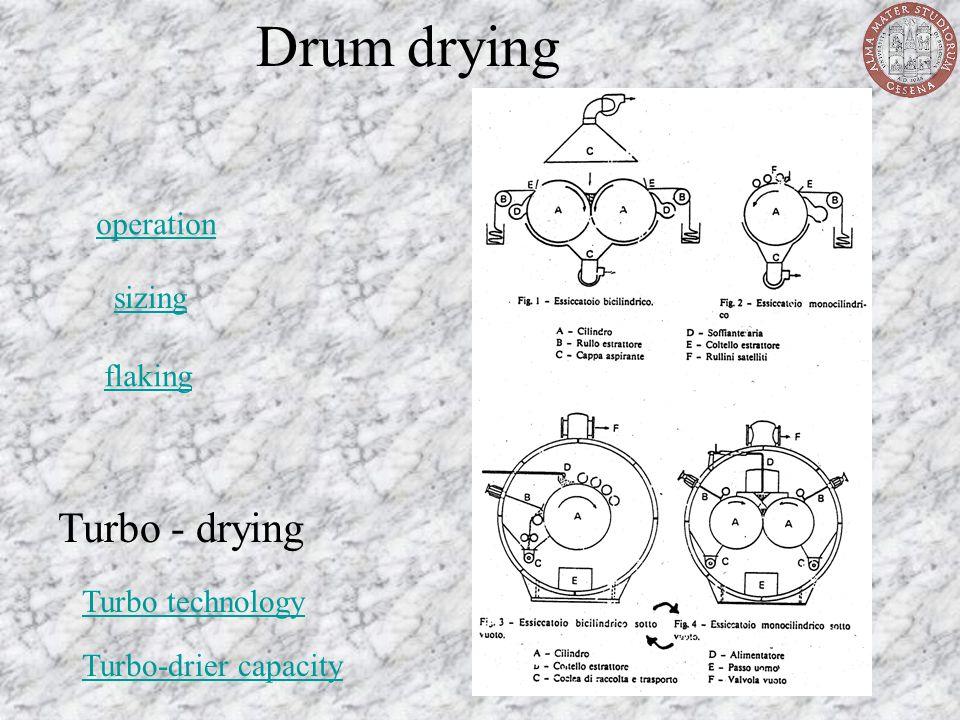 Drum drying operation sizing flaking Turbo - drying Turbo technology Turbo-drier capacity
