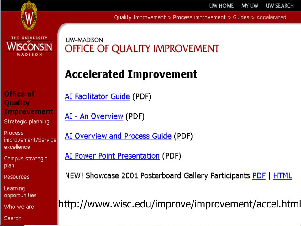 http://www.wisc.edu/improve/improvement/accel.html