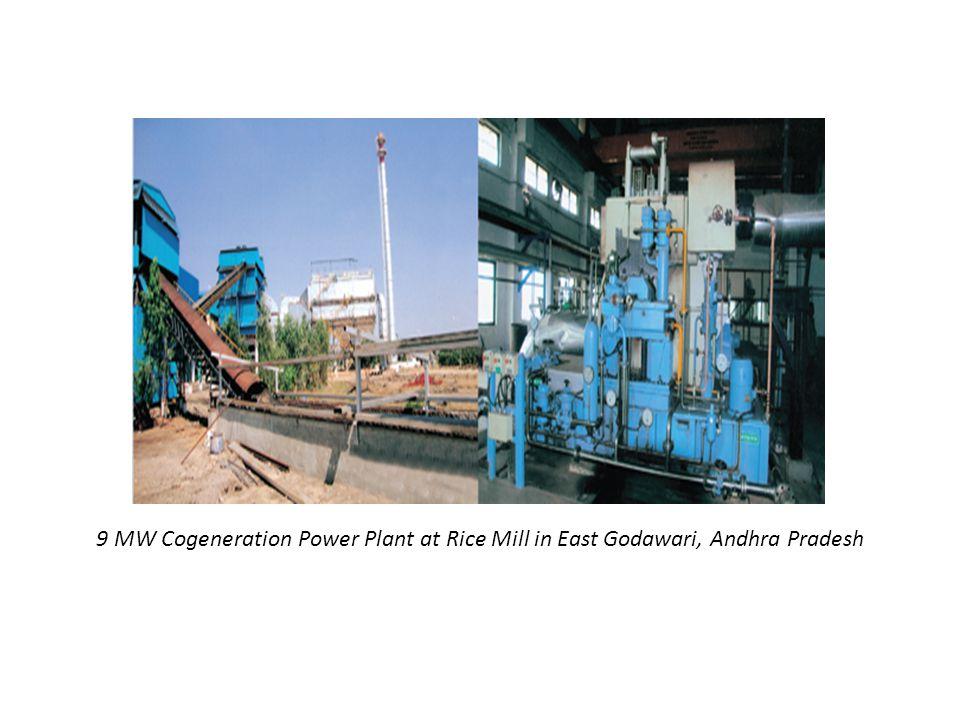 9 MW Cogeneration Power Plant at Rice Mill in East Godawari, Andhra Pradesh