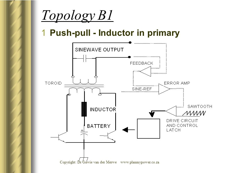 Topology B1 1Push-pull - Inductor in primary