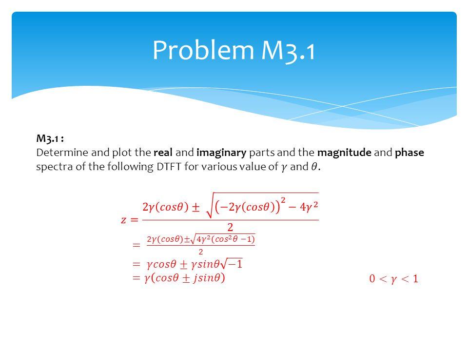 Problem M3.1